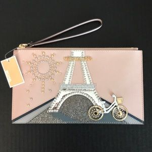 NWT! MICHAEL KORS NOVELTY XL PARIS JET SET TRAVEL